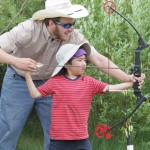 Archery is available too, even for the younger folk.